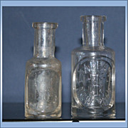 2 Vintage Tappan New York Cologne Bottle