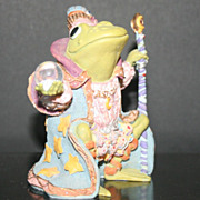 "# 1 in the Series Wizard Of Camelot Frog ""Hamilton Collection"" Sculpture Collection"
