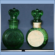 REDUCED Set of 2 Crown Perfumery Co. of London Bottles Smelling Salts One Full & With ...