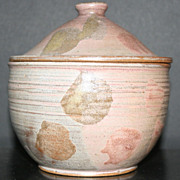 SOLD Frances Senska Pottery Jar With Lid, Signed, And Address Label