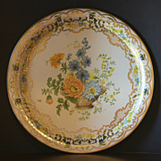 Daher Decorated Ware Platter Floral Basket Style 823 Made in England