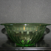 Anchor Hockings Green Depression Glass Nesting Mixing Bowl