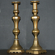 Matching pair of Brass Candle Stick Holders