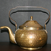 Brass and Copper Teapot with Tin Interior