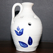 Salt Glaze Jug Style Flower Frog Stamped Williamsburg