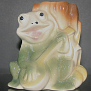 Vintage Banjo Playing Frog Planter