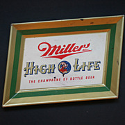 Miller High Life 1950s Metal Tip Tray