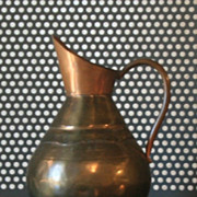 Vintage Brass and Copper pitcher / creamer  Belgium