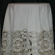 45 inch Ivory Lace Round Tablecloth