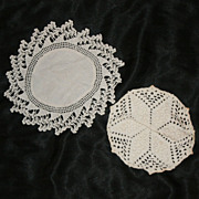 Set of 2 Hand Made Doilies