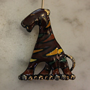 Eisenberg Enameled Tiger Pin .. VINTAGE.. signed