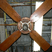 Early EMERSON Ceiling mount electric fan fancy cast Iron in working condition original finish