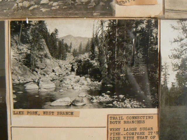 Antique gold mining photo collage HERBERT FOOTE McClatchy High Sacramento Ca