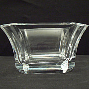 "Orrefors swedish glass crystal SERVING BOWL 8"" Odyssey pattern signed"