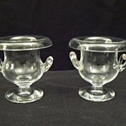 Antique salt cellars footed hand blown glass urns high quality