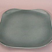 Russel Wright American art pottery Seafoam green Steubenville platter 13&quot;