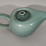 Russel Wright American art pottery Seafoam green Steubenville teapot w lid