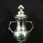 Antique  turn of the century bicycle  trophy by Pairpoint silverplate co.