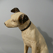 Original paper mache RCA Victor NIPPER Phonograph dog early version