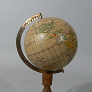 Vintage 1930s Japan made 3'' world globe by Y SUKAGAWA