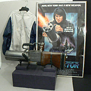 Jackie ChanTHE PROTECTOR movie memorabilia gun, crew jacket and rare poster 1984