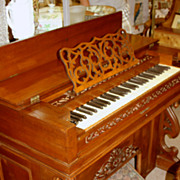 Antique Jewett & Goodman Reed Melodeon/Pump Organ - 1860s Fully Restored