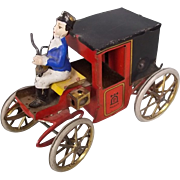 Lehmann No.420 &quot;MOTOR CAR&quot; Tinplate Clockwork Horse-less Carriage