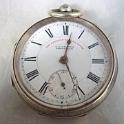 Silver Birmingham 1901 J.G.Graves 'Express' Pocket Watch - Swing Out Movement