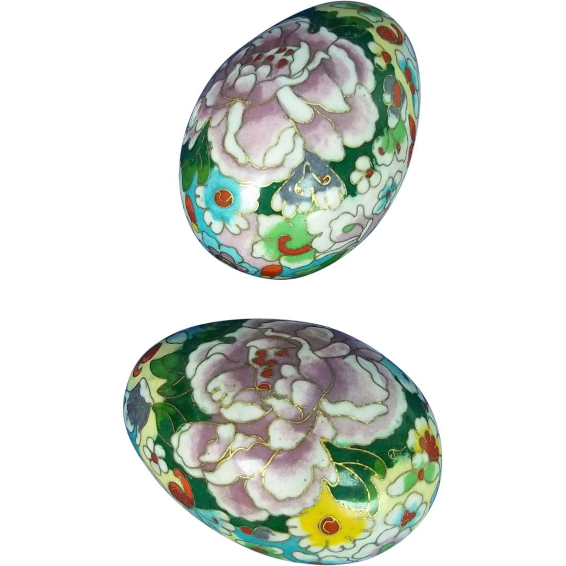 a pair of chinese cloisonne decorative eggs c1870 from. Black Bedroom Furniture Sets. Home Design Ideas