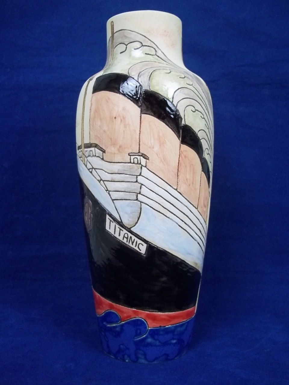 "Burslem Pottery Vase in ""Titanic"" Design, Limited Edition (3/50)"