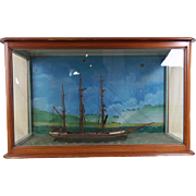 Victorian Clipper Ship E.K. Virgo in a Wood and Glass Case
