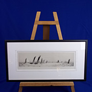 "William L. Wyllie (1851-1931) - Etching- ""The Trawler Fleet"" - Signed"