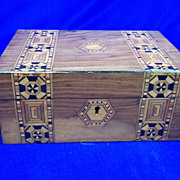 Victorian Walnut Tunbridge Ware Box. C.1880