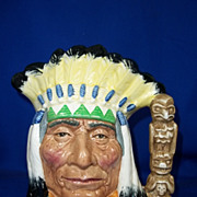 Royal Doulton Character Jug 'North American Indian' No. D6786 (Colorway) - Large