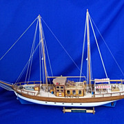 Trotamares (1958) Sailing Cruiser Plank On Frame Scale Model