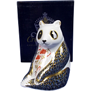 Royal Crown Derby Panda Paperweight ~ Boxed