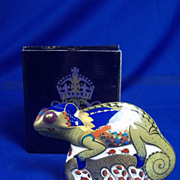 Royal Crown Derby Chameleon Paperweight 2003 - Boxed