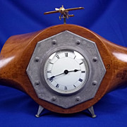 Propeller Hub Clock From Maurice Farman MF11 With Brass Trench Art Topper