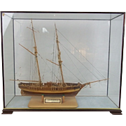 Cased Model Of The French Ketch Warship 'Le Hussard' (1848) 1:50 Scale by J ...