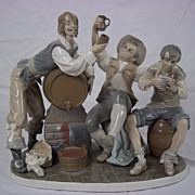 "Lladro ""Tavern Drinkers"" 01004965 Produced 1977-1985"
