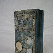 A Troika Pottery Slab Vase by Honor Curtis 1969-73