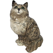 Rare Beswick Grey Swiss Roll Pattern Persian Cat No. 1867 Designed by Albert Hallam