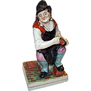 c.1870 Staffordshire Figure Of A Cobbler