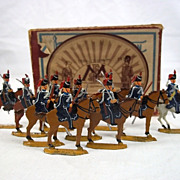 Circa 1900 M F Ltd. 15th Hussars 1815. Vintage Tin/Lead Flat Soldiers