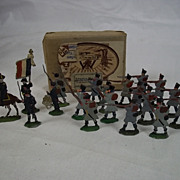 Circa 1900 M F Ltd. French Grenadiers 1815 Vintage Tin/Lead Flat Soldiers