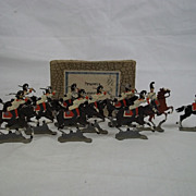 c1900/1920 Prussia Lifeguards Vintage Tin/Lead Flat Soldiers, Boxed