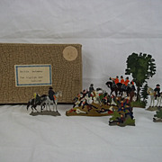 "c1900/1920 Battle Between The English and Indians"" Vintage Tin/Lead Flats Soldiers. Boxed"