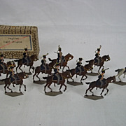 c1900/1920 English Light Dragoons Vintage Tin/Lead Flats 10 Pieces. Boxed