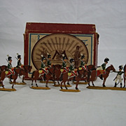 Circa 1900 M F Ltd. Bavarian Cavalry 1815. Tin/Lead Flat Soldiers