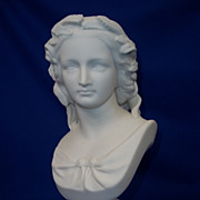 19th Century Parian Bust Of Shakespeare�s 'Miranda', W C Marshall R.A. S.C. Crystal Palace Art